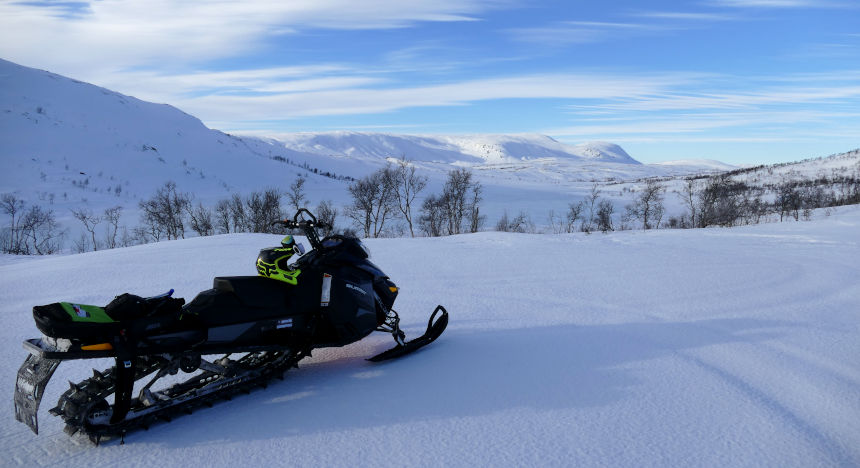 Sled and fresh snow - a whole new feeling.