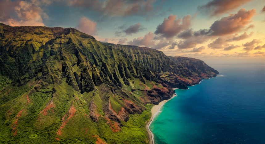 The beautiful landscape of Hawaii